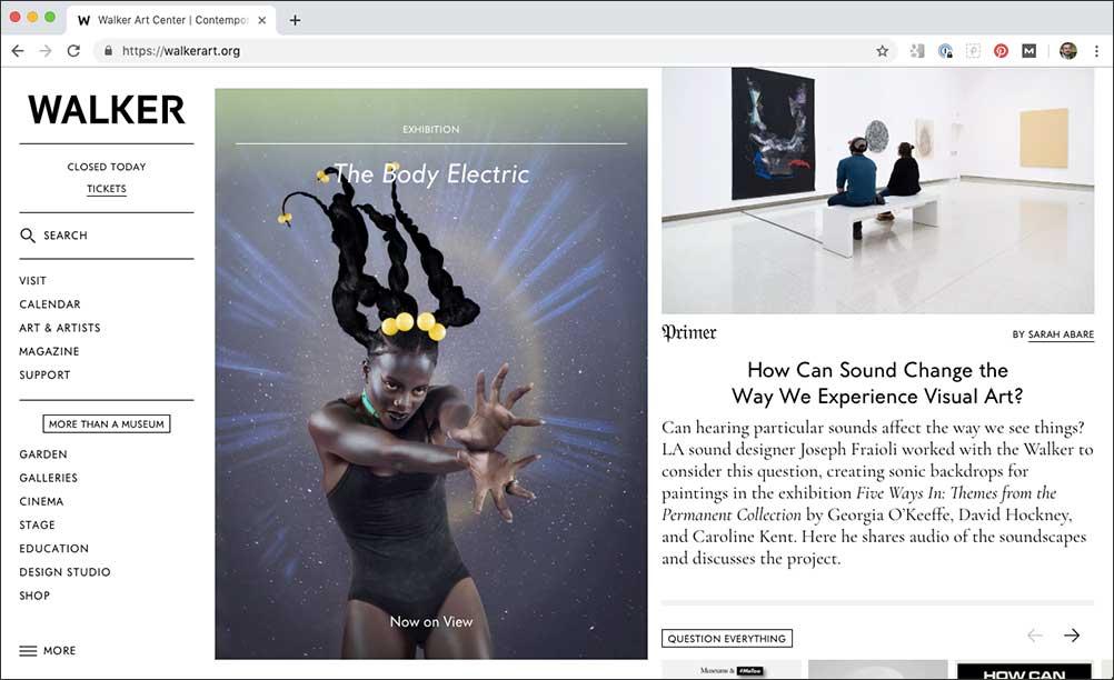 Rethinking museum website design