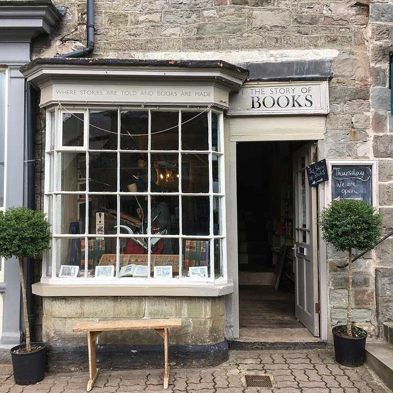 Emma Balch started the Story of Books in Hay-on-Wye