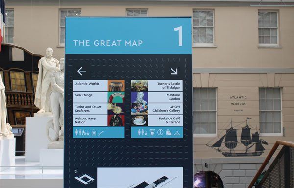 museum signage and wayfinding