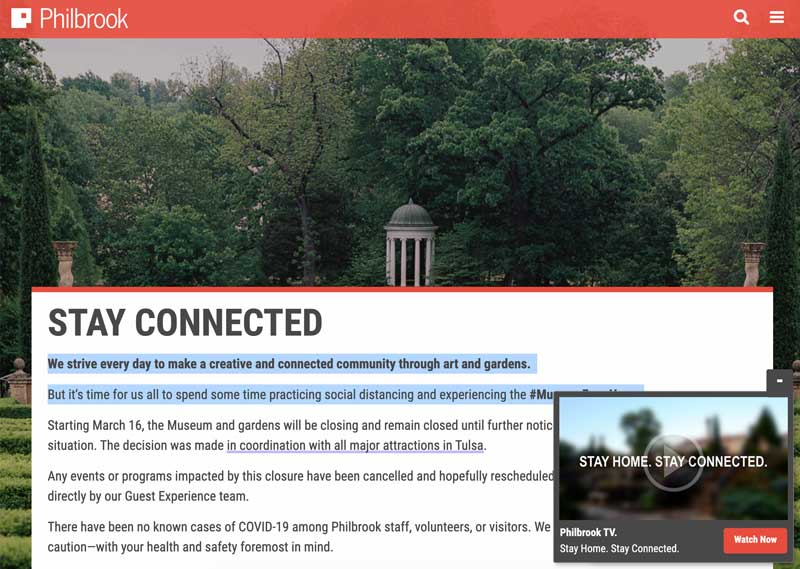 Philbrook Museum Website