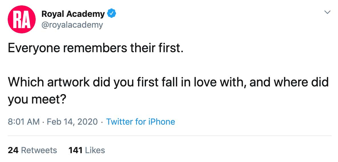 Royal Academy Twitter